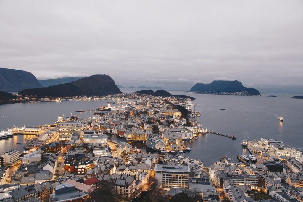 Norway city near ocean